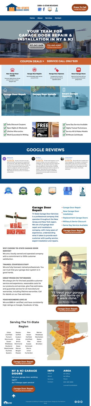 Home Services Wordpress Website Example