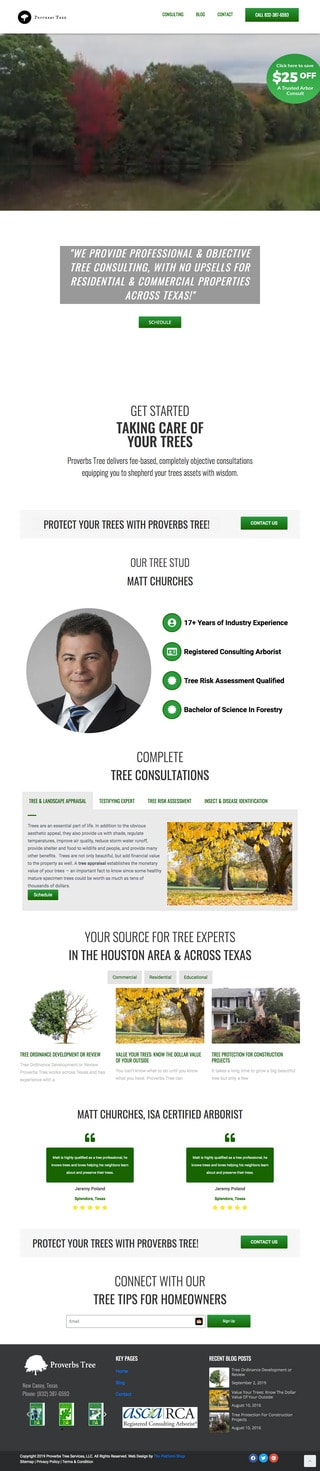 Tree Services Wordpress Website